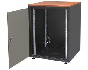 "19"" Datenschrank Office Rack in tiefschwarz RAL 9005"