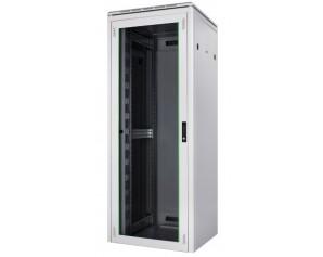 """19"""" Netzwerkschrank Premium Rack in 800mm Breite - Frontansicht"""
