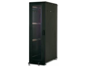 Netzwerkschrank Server Rack Premium - 42HE 600*1000 tiefschwarz RAL 9005 Lochblechtür