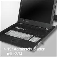 """19"""" Adminschubladen mit KVM"""